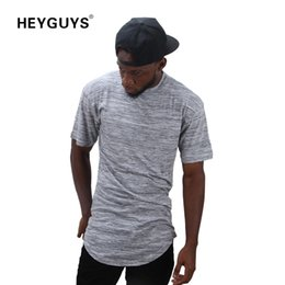 HEYGUYS 2018 extend hip hop street T-shirt wholesale fashion brand t shirts men summer short sleeve oversize design new US size
