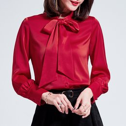2018 spring new white shirt women's boutique women's straight bow ladies long-sleeved chiffon cardigan jacket female
