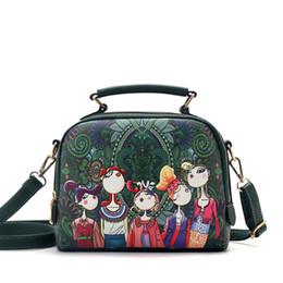 High quality luxury brand PU leather handbags fashion ladies green cartoon handbag shoulder bag female crossbodybag