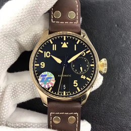 46MM 501005 Real Bronze Case ZF 52000 AUTOMATIC MEN WATCH SAPPHIRE CRYSTAL wristwatch waterproof watches pilot power reserve display