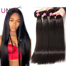 UNice Hair Brazilian Virgin Straight 3 Bundles 100% Human Hair Weave Bundles 8-30inch Human Hair Extensions Wholesale Weaves Cheap Bulk