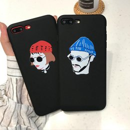 Phone Cases for iPhone 7 8 6S 6 plus case Black Hard PC Matte Cover for iphone 8 7 6 6s capa