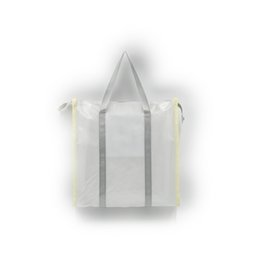 Plastic Tote Zipper Bag Heavy Duty Deluxe Tote Bag With Inside Pocket and Shoulder Straps for Easy Carrying
