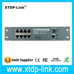 intelligent metal case wired distribution box 8-port router OEM wired router 192.168.0.1 No modem