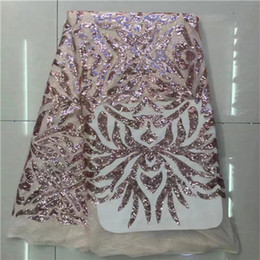 African French Lace Fabric with sequins High Quality African Tulle Lace Fabric with sequins 5yards white sequin lace fabric 17B
