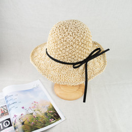 EPU-MH1804 Summer straw hat with memory-wire brim and sun UV protection hand crochet