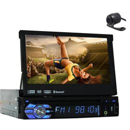Free Rear Camera+Latest Design Panel Detachable 7'' single din Car DVD Player GPS Navigation in dash car styling Car Stereo radio pc
