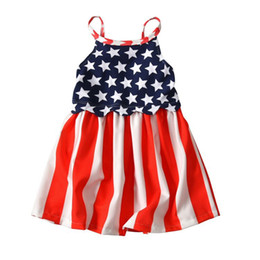 new summer babies clothes Princess girls National Flag print dress baby girl tutu colorful petal Bubble Skirt baby clothes