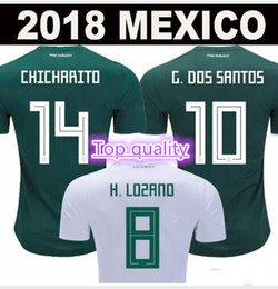 New to 2017 Games 2018 Mexico shirt Chivas Regal jersey Monterrey jersey Hernandez G DOS SANTOS football shirts