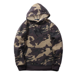 High Quality Men's Active Navy Camouflage Hoodies Clothing Wholesale Fleece Dark Army Green Spring Boy's Sweatshirts Tops Clothing
