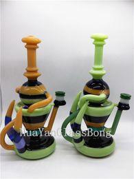 Beautiful Glass Bong Water Pipe Smoking Pipe Dab Rig Recycler Oil Rig Waterpipe Bubbler Bong Pipe