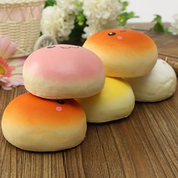 10cm Smile Marshmallow Bun Squishy Phone Charm Squishy Pendants Baby Toys Phone Straps for Cell Phone Decoration free shipping 2018 new hot