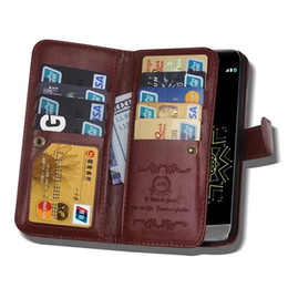 Commerce For LG G3 G4 G5 Original BRG Multifunctional Flip Wallet Leather Case Cover Magnetic Detachable 2 in 1 9 Cards Slot