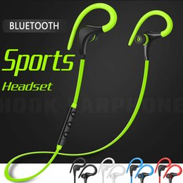 Hook Bluetooth Earphones Bass Stereo Headset handsfree Running Headphones With Mic 3.5mm Earbuds For All Mobile Phone With Zipper bag
