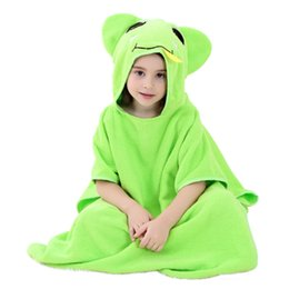 Children pajamas Soft Hooded baby Bathrobe Cartoon Animal Bath Towel Cotton Comfortable Baby Clothes Cape Robe
