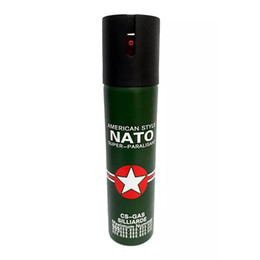 Nato Self-Defense Pepper Spray 110ml Oc Spray Tear Gas Outdoor Camping Defense Survival Gear Lady EDC Tools
