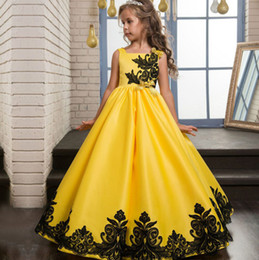 Cinderella Costume Long Princess Dress Girl Wedding Party Dresses Flower Girls Lace Dress Child Girl Gown School Party Dress