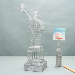 FREE SHIPMENT J11 STATUES OF LIBERTY USA WIRE MODEL STAINLESS HAND-MADE ART CRAFTS WEDDING BIRTHDAY HOME GARDEN OFFICE GIFT PRESENT CUTE