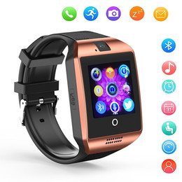 Intelligent Bluetooth Smart watch Q18 Passometer Sport Anti-lost with Touch Screen Camera Sleep Monitor For Apple Android Samsung Phone