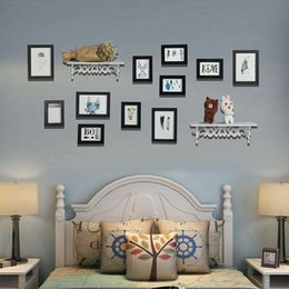 2018 Direct Selling Fashion Sale Moldura Photo Wall Art Decor Frames Background Painting Picture Diy Frame Wooden Multi-frame