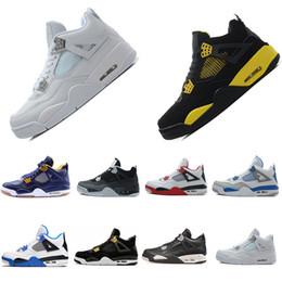 Newest Shoes 4 IV Eminem Basketball For Men Black Denim Undefeated Encore Blue Olive Green Mens Version Wholesale Size 41-47 US 8-13