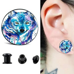 Legend Of Zelda Logo Ear Gauge Plugs And Tunnels 4-16mm Flesh Tunnel Plugs Piercing Expander Fake Plug Earrings Ear Plug