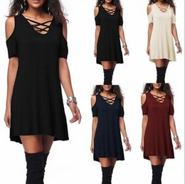 Hot shoulder new loose dress