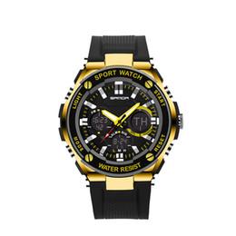 Nuevo estilo Marca Dial grande Reloj Montre Deportes Multifunción al aire libre impermeable para hombres y mujeres reloj