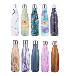 Cola water bottle 500ml 10 color travel bottle double wall stainless steel bottle coke shape outdoor thermal insulation 17oz