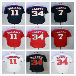 Men's #27 Mike Trout jersey 34 Bryce Harper 7 Trea Turner 11 Ryan Zimmerman Stitched Men Baseball Jerseys