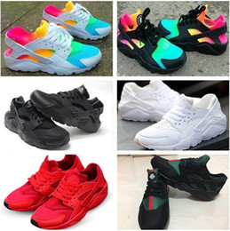 2018 New Classical Huaraches Running Shoes Huarache Rainbow Ultra Breathe Shoes Men & Women Kids Huaraches Multicolor Sneakers Size 36-46