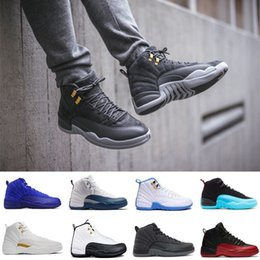 2018 high quality 12 ovo white Dark grey GS Barons Gym Red flu games french blue taxi playoffs Bordeaux men Basketball Shoes Sneakers