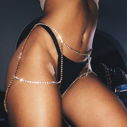 ca0734c1e0ba8c Latest Women punk Sexy Breast Chain Fashion Rhinestones Girls Briefs Ass Body  Chains Crystal Attractive Leg Chain Body Jewelry