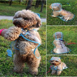 Clear Raincoat XL Cheap Dog Clothes Water Ressistant Jacket Rain Suit Fleece for Medium Pet Dogs