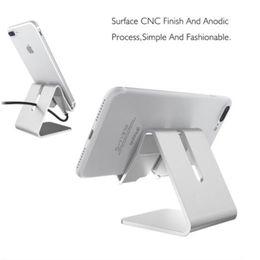 2018 Direct Sellingnew arrival Pink Silver Gold Metal Universal Aluminum Alloy Desktop Phone Holder Folding Tablet