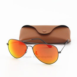 Free Shipping 10pcs Designer Fashion Txrppr Women Grey Frame Red Mirror Lens Men Sun Glasses UV Protection Pilot Sunglasses With brown box