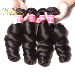 Nadula 4Bundles Brazilian Loose Wave Bundle 100%Human Hair Extension Virgin Hair Peruvian Weave Bundle Wholesale Cuticle Aligned Hair Bundle