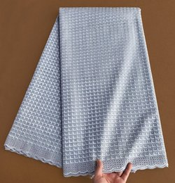 plain grey original Swiss voile lace African lace fabric in Switzerland high quality 5 yards per piece