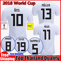 2018 OZIL MULLER GOTZE HUMMELS KROOS BOATENG 2018 World Cup REUS soccer jerseys thai quality soccer jersey uniforms football shirts S-4XL