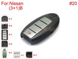 auto key for nissan key cover 3+1 buttons SUV with HOLD trunk button, battery buckle towards left with block place with logo