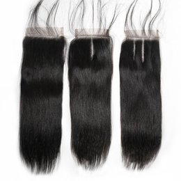Top Lace Closure Virgin Brazilian Human Hair Straight Body Wave Within Free Middle Part Three Part
