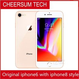 original screen without fingerprint iphone 6 in 8 style 4.7 5.5 inch 16GB 64GB 128GB iphone6 refurbished in iphone 8 housing Cellphone