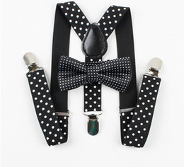 Boys Gilrs Suspender Bowties Set For Children Wedding Bowties Suspenders Baby Kids Polka Dots Bow Ties Braces Belt free shipping 2018 new
