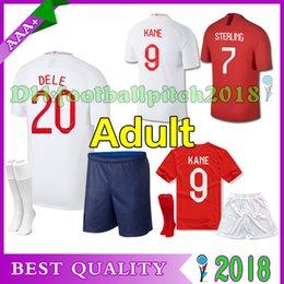 2018 World Cup ROONEY soccer Jersey home red adult kit KANE STURRIDGE STERLING HENDERSON VARDY 18 19 away white men football shirt shorts