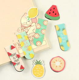 Cute Fruit Ice Cream Magnetic Bookmarks Books Marker of Page Stationery School Office Supply Student Rewarding Prize free shipping 2018 new