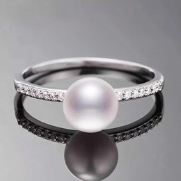 1 piece zircon solid sterling silver ring setting, ring mounting, ring blank without pearl, jewelry DIY,wedding gift DIY