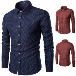men's long-sleeved shirts with a new style printed in a long sleeve shirt are comfortable and breathable casual shirts.