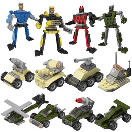 Building Blocks Bricks Puzzle military Army Super Heros Minifig tank Car Air Plane Robot Fire opp bag packages cute toys Christmas Gift