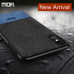 Luxury MOFi Fabric Case For New iPhone XR-XS-XS Max With TPU Edge And Cloth Surface Back Cover Customized For iPhone X 8-7-Plus Shell