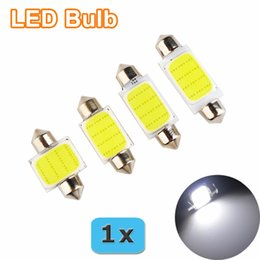 10pcs lot 31mm36mm 39mm 41mm Car COB 1.5W DC 12V Interior Car LED Bulbs Lamp Interior Dome Lights External license plate lights